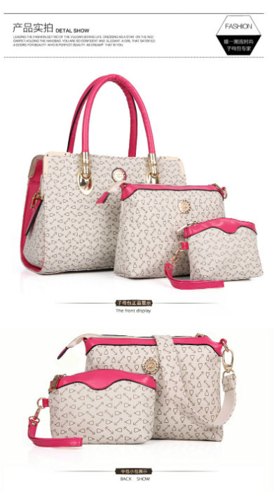 B903 (3in1) IDR.232.000 MATERIAL PU SIZE BIG L33XH24, MEDIUM L23XH17, SMALL L14XH12CM WEIGHT 1450GR COLOR BEIGE