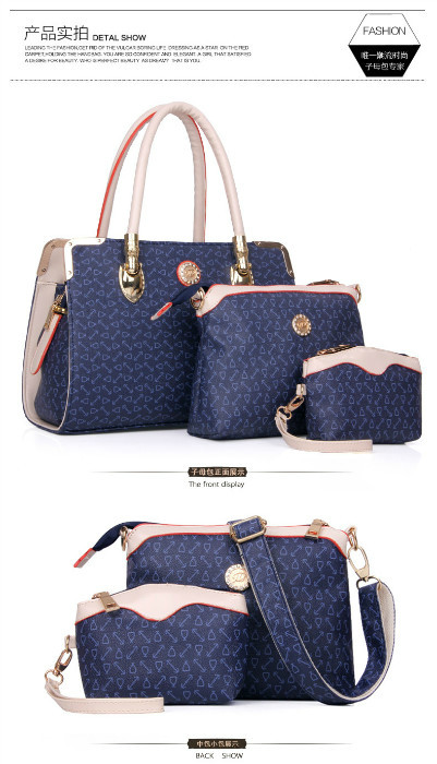 B903 (3in1) IDR.232.000 MATERIAL PU SIZE BIG L33XH24, MEDIUM L23XH17, SMALL L14XH12CM WEIGHT 1450GR COLOR BLUE