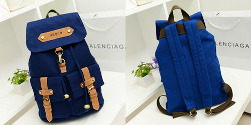 B9074 IDR.176.000 MATERIAL CANVAS SIZE L30XH40XW14CM WEIGHT 650GR COLOR DARKBLUE
