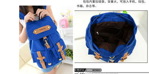 B9074 IDR.176.000 MATERIAL CANVAS SIZE L30XH40XW14CM WEIGHT 650GR COLOR LIGHTBLUE