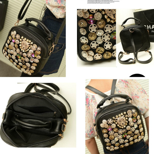 B9393 IDR.160.000 MATERIAL PU SIZE L22XH20XW10CM WEIGHT 650GR COLOR BLACK