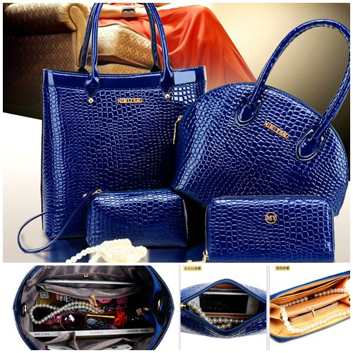 B9747-(4in1) IDR.225.000 MATERIAL PU SIZE BIG-L31XH29,MEDIUM-L21XH22XW12CM WEIGHT 1400GR COLOR BLUE
