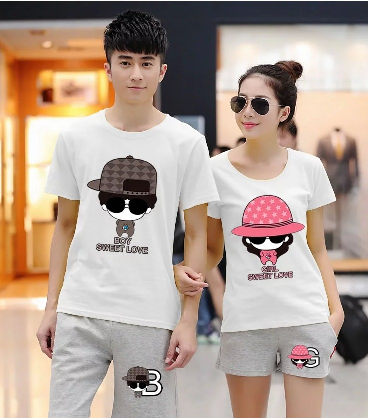 CS34932-(1set-atasan) IDR.150.000 MATERIAL COTTON-SIZE-WOMAN-M,L-MAN-L,XL-(TOP-ONLY) WEIGHT 400GR COLOR WHITE