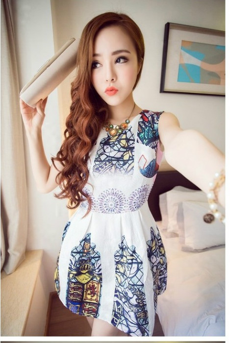 D34503 IDR.145.000 MATERIAL COTTON LENGTH80CM BUST88CM-WAIST70CM WEIGHT 300GR COLOR BLUE