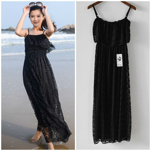 D35323 IDR.142.000 MATERIAL LACE LENGTH 120CM BUST 90CM WEIGHT 250GR COLOR BLACK