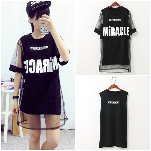 D38422(2in1) IDR.125.000 MATERIAL COTTON+GAUZE LENGTH73CM BUST86CM WEIGHT 250GR COLOR BLACK