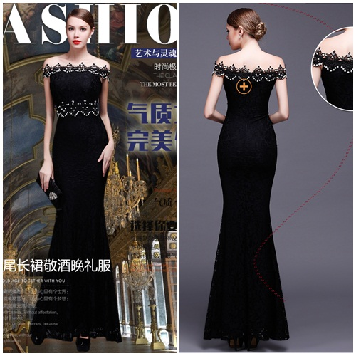 D4001 IDR.158.000 MATERIAL LACE-LENGTH135CM,BUST88CM WEIGHT 350GR COLOR BLACK