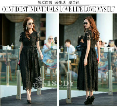 D47405 IDR.229.000 MATERIAL LACE-LENGTH120CM,BUST88CM-WAIST76CM WEIGHT 400GR COLOR BLACK