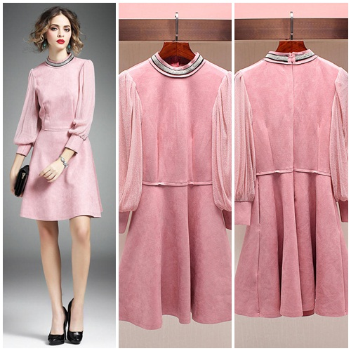 D47536 IDR.180.000 MATERIAL KOREAN-VELVET-LENGTH88CM,BUST85CM WEIGHT 400GR COLOR PINK