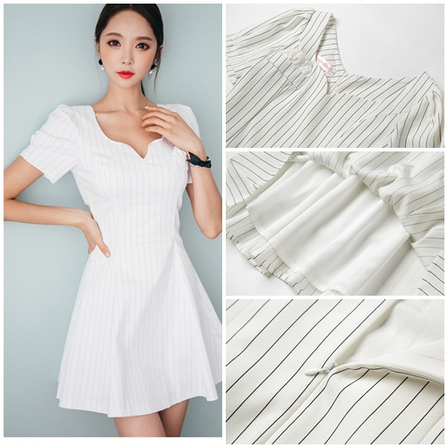Jual D57014 Dress Pesta Elegan Putih Grosirimpor Com