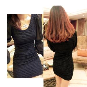 D6382 IDR.98.OOO MATERIAL CREPE-LENGTH-79CM,BUST-72-96CM,BUST-66-88CM WEIGHT 240GR COLOR BLACK