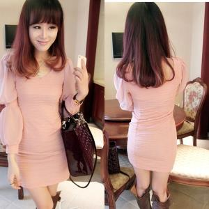 D6382 IDR.98.OOO MATERIAL CREPE-LENGTH-79CM,BUST-72-96CM,BUST-66-88CM WEIGHT 240GR COLOR PINK