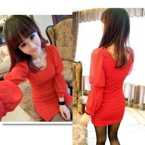 D6382 IDR.98.OOO MATERIAL CREPE-LENGTH-79CM,BUST-72-96CM,BUST-66-88CM WEIGHT 240GR COLOR RED