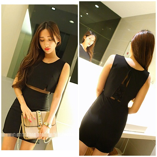 D7796 IDR.135.000 MATERIAL COTTON LENGTH80CM BUST82CM-WAIST70CM WEIGHT 250GR COLOR BLACK