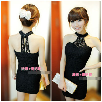 D8338 IDR.126.000 MATERIAL LACE-LENGTH76CM,BUST88CM WEIGHT 230GR COLOR BLACK
