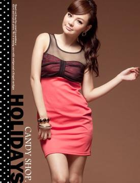 D8409 IDR.97.OOO MATERIAL COTTON-LENGTH-74CM,BUST-80CM,WIAST-76CM WEIGHT 230GR COLOR RED