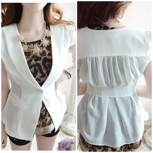 J38365 IDR.128.000 MATERIAL HEMP+CHIFFON SIZE M-LENGTH59CM-BUST88CM WEIGHT 220GR COLOR WHITE