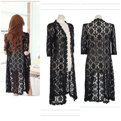 J51830 IDR.82.000 MATERIAL LACE-LENGTH90CM,BUST96CM WEIGHT 200GR COLOR BLACK