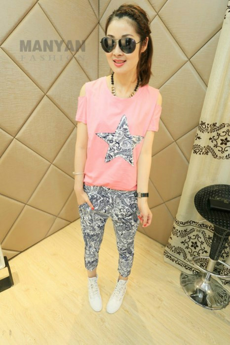 LS37807-1SET IDR.132.000 MATERIAL COTTON SIZE M,L-LENGTH-TOP61CM,63CM-PANT76CM,78CM-BUST102CM,104CM-WAIST55-66CM,60-70CM WEIGHT 300GR COLOR PINK