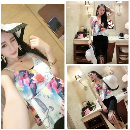 LS39478-1SET IDR.145.000 MATERIAL COTTON LENGTH TOP-38CM-SKIRT42CM-BUST80-90CM-WAIST68-92CM WEIGHT 300GR COLOR AS PHOTO
