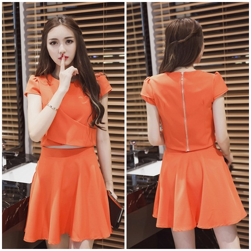 LS52793 IDR.173.000 MATERIAL POLYESTER-TOP39CM,BOTTOM50CM-BUST86CM WEIGHT 350GR COLOR ORANGE