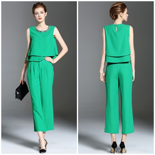LS56464 IDR.178.000 MATERIAL CHIFFON SIZE M,L-TOP48,49CM-PANT90,91CM-BUST92,96CM WEIGHT 300GR COLOR GREEN