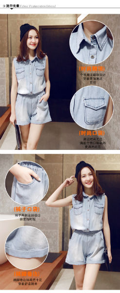 P34044 IDR.139.000 MATERIAL DENIM SIZE M,L LENGTH 79CM,80CM BUST 96CM,100CM WEIGHT 280GR COLOR AS PHOTO