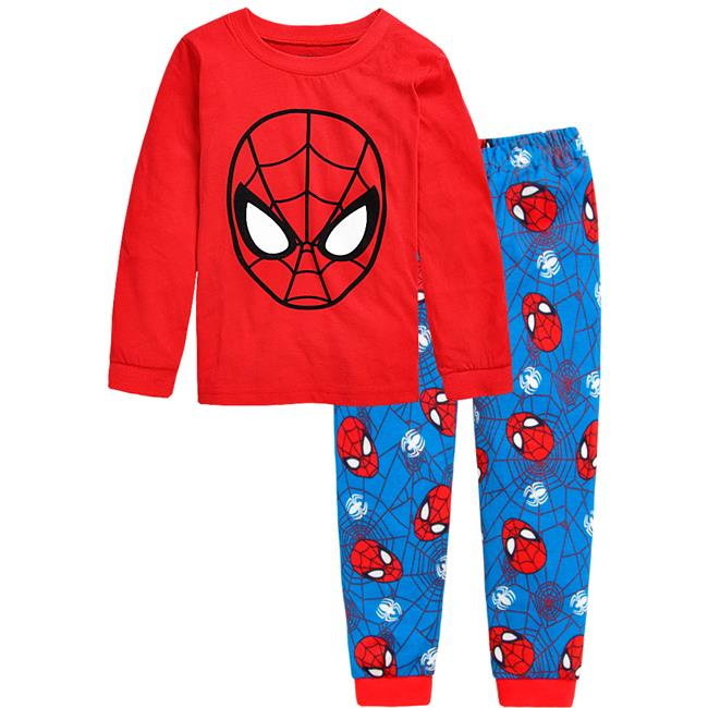 PJ183 BAJU TIDUR ANAK SPIDERMAN IDR 75.000 BAHAN COTTON SIZE 90,95,100,110,120,130 WEIGHT 500GR COLOR RED