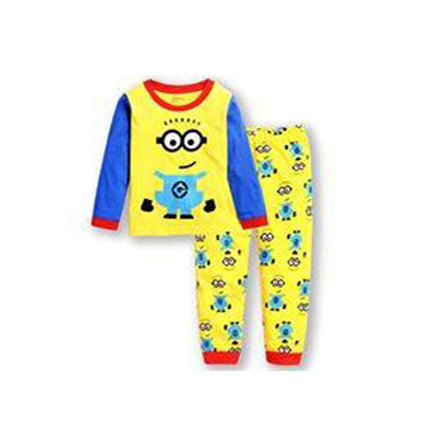 PJ199 BAJU TIDUR ANAK MINNIONS IDR 75.000 BAHAN COTTON SIZE 90,95,100,110,120,130 WEIGHT 500GR COLOR YELLOW