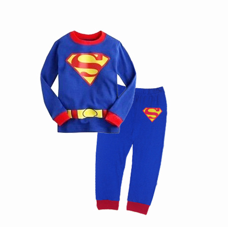 PJ693 BAJU TIDUR ANAK SUPERMAN IDR 75.000 BAHAN COTTON SIZE 90,95,100,110,120,130 WEIGHT 500GR COLOR BLUE