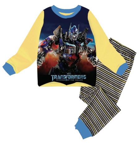 PJ697 BAJU TIDUR ANAK TRANSFORMERS IDR 75.000 BAHAN COTTON SIZE 90,95,100,110,120,130 WEIGHT 500GR COLOR YELLOW