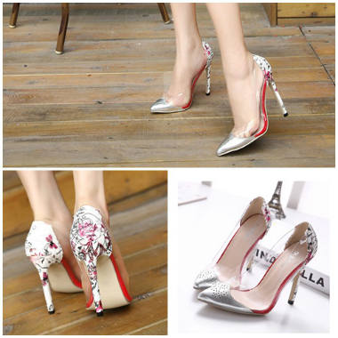 SH003 IDR.228.000 MATERIAL PLASTIC-PU-HEEL-11.5CM COLOR SILVER SIZE 38,39