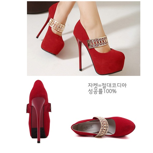 SH0617 IDR.218.000 MATERIAL SUEDE-HEEL-5CM,14.5CM COLOR RED SIZE 37