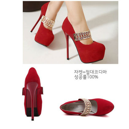SH0617 IDR.225.000 MATERIAL SUEDE-HEEL-5CM,14.5CM COLOR RED SIZE 36,37,38,39