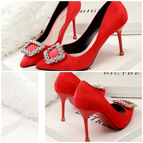 SH10113 IDR.220.000 MATERIAL SUEDE-HEEL-9CM COLOR RED SIZE 36,37,38,39