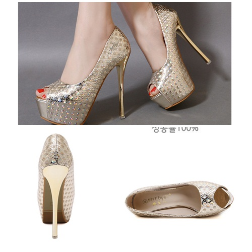 SH1099 IDR.215.000 MATERIAL PU-HEEL-14CM COLOR GOLD SIZE 36,37,38,39