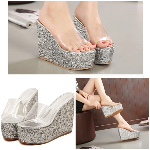 SH1181 IDR.225.000 MATERIAL PU-HEEL-6CM,13CM COLOR SILVER SIZE 36,37,38