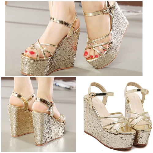 SH1196 IDR.225.000 MATERIAL PU-HEEL-6CM,13.5CM COLOR GOLD SIZE 35,36,37,38