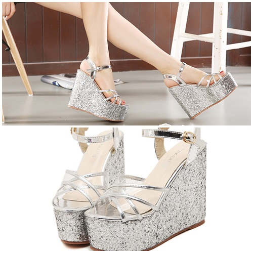 SH1196 IDR.225.000 MATERIAL PU-HEEL-6CM,13.5CM COLOR SILVER SIZE 35,36,37,38