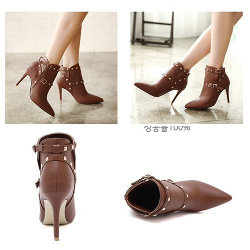 SH1319 IDR.265.000 MATERIAL PU HEEL 9.5CM COLOR BROWN SIZE 36,37,38,39