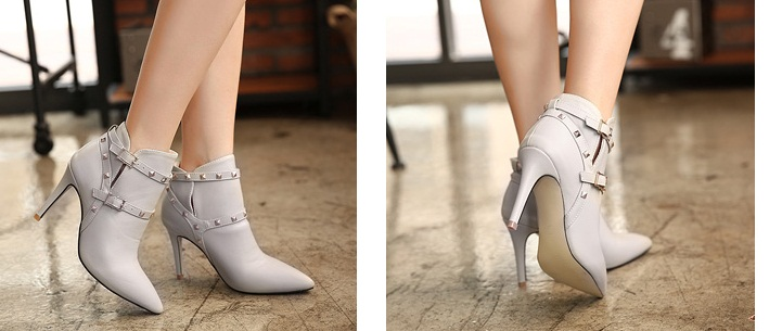 SH1319 IDR.265.000 MATERIAL PU HEEL 9.5CM COLOR GRAY SIZE 36,37,38,39