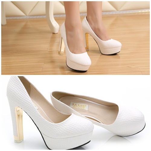 SH13580 IDR.220.000 MATERIAL PU-HEEL-3.5CM,12M COLOR WHITE SIZE 38