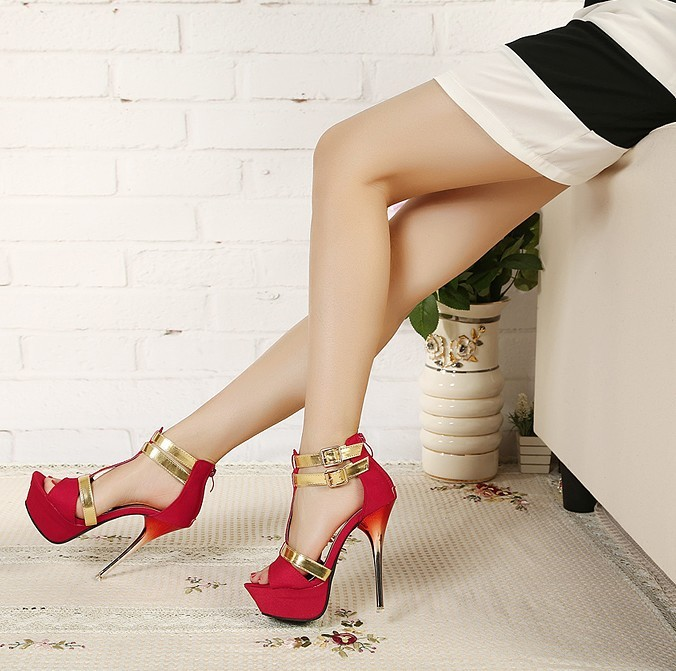 SH138 IDR.235.000 MATERIAL SUEDE-HEEL-4CM,16CM COLOR RED SIZE 38