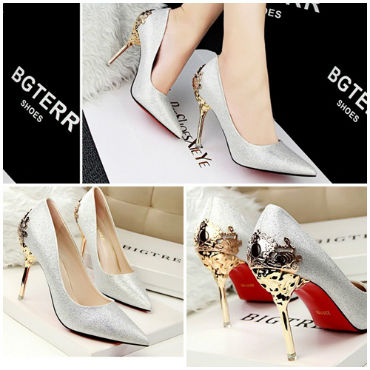 SH17231 IDR.242.000 MATERIAL SUEDE-HEEL-10CM COLOR SILVER SIZE 35,36,37,38,39