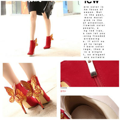 SH19150 IDR.260.000 MATERIAL SUEDE-HEEL-11CM COLOR RED SIZE 36,37,38,39
