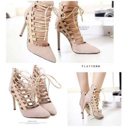 SH2003 IDR.258.000 MATERIAL SUEDE-HEEL-11.5CM COLOR APRICOT SIZE 36,37,38,39