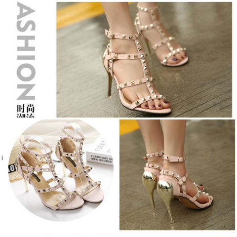 SH2063 IDR.255.000 MATERIAL PU-HEEL-8.5CM COLRO PINK SIZE 35,36,37,38,39