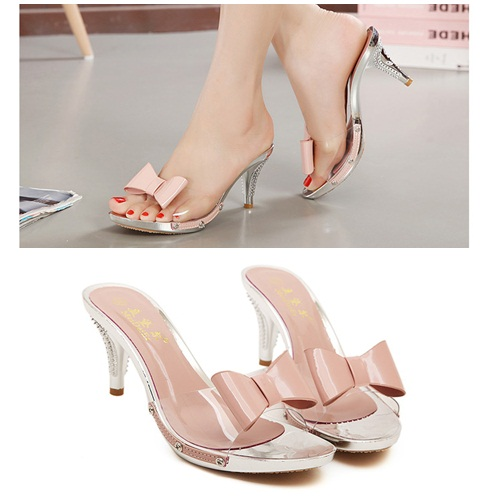 SH2335 IDR.215.000 MATERIAL PU HEEL 8CM COLOR PINK 35,36,37,38,39