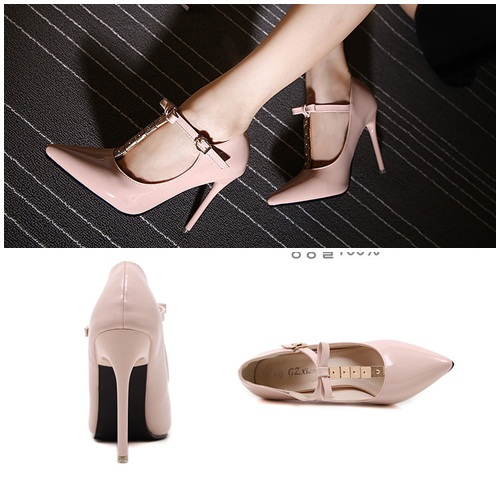 SH2381 IDR.225.000 MATERIAL PU HEEL 10.5CM COLOR PINK SIZE 36,37,38,39