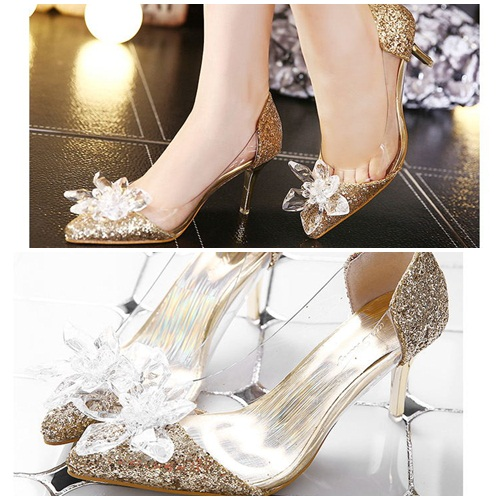 SH2580 IDR.232.000 MATERIAL PU HEEL 7.5CM COLOR GOLD SIZE 35,36,37,38,39